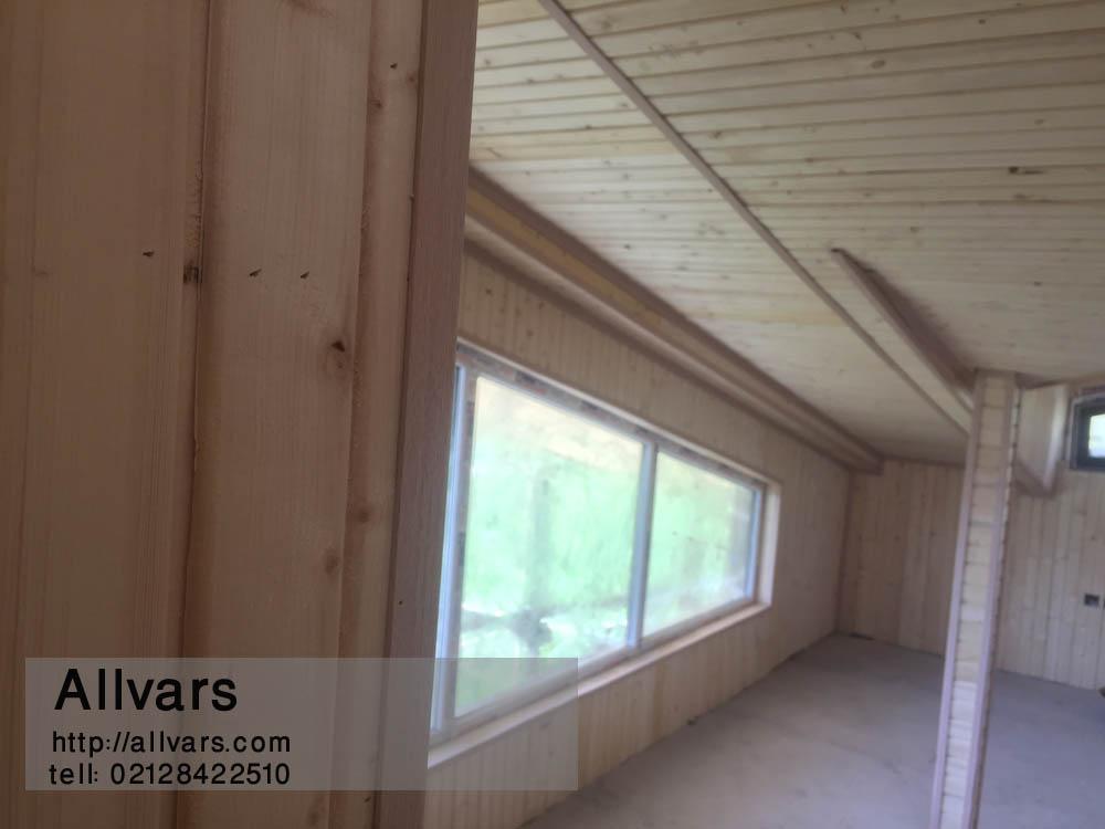 کلبه چوبی مثلثی - ساخت شله چوبی